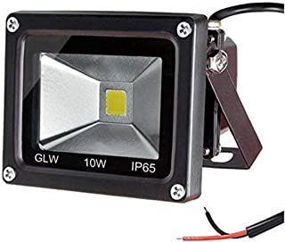 GLW 12V AC or DC LED Flood Light,10W Mini IP65 Waterproof Outdoor Light,900LM,3000K,Warm White Security Light,80W Halogen Bulb Equivalent