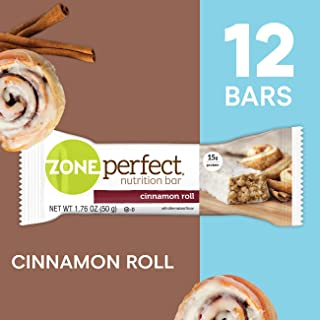 ZonePerfect Protein Bars, Cinnamon Roll, High Protein, With Vitamins & Minerals (12 Count)