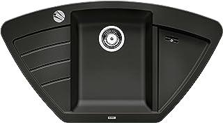 BLANCO ZIA 9 E – Eckspüle für die Küche für 90 cm Eckschränke oder 60 cm Unterschränke – grau – 514756