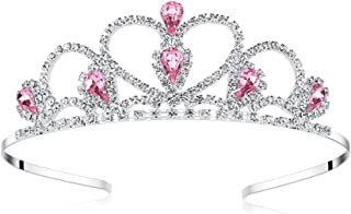 Lovelyshop Pink Gems Rhinestone Tiara, No Comb for Little Kid Big Kid Girl Prom Birthday Prinecess Party …