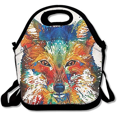 Herbruikbare Lunch Bag Splatters Wolf Voedsel Handtas met Verstelbare Band Aangepaste Lunch Houder Gedrukt Lunch Tote Bag Multi