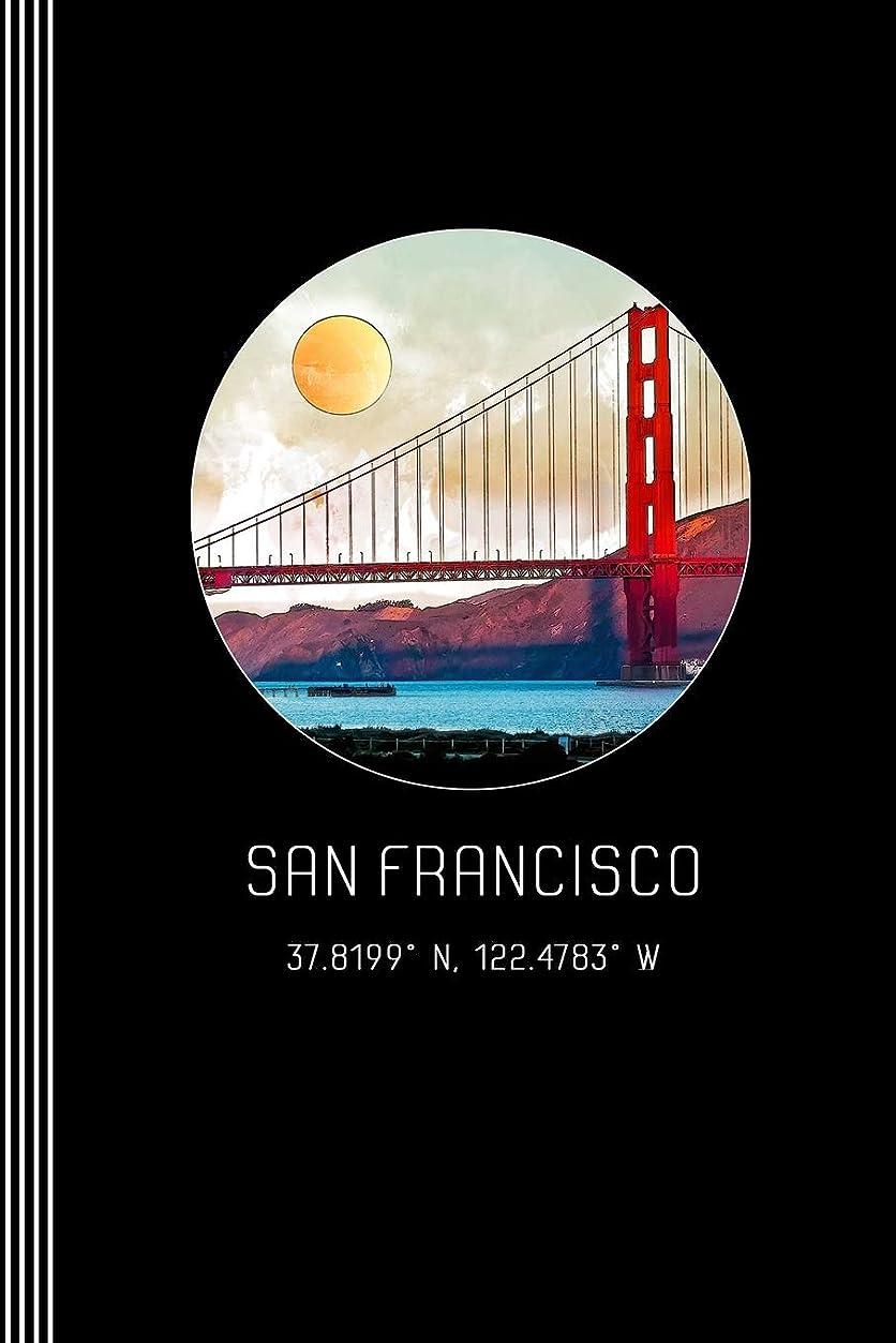 放棄従来の延ばすSan Francisco: Artsy Golden Gate Bridge Journal Book - Blank Graph Paper 5x5 Grid Composition Notebook - Beautiful Watercolor California Architecture Art Illustration Diary