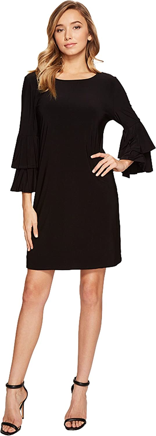 LAUNDRY BY SHELLI SEGAL Women's Shift Dress with Knife Pleat Sleeves