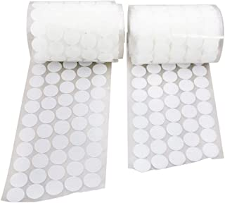 Vkey 1000pcs (500 Pair Sets) 20mm Diameter Sticky Back Coins Hook & Loop Self Adhesive Dots Tapes White-Delivery by FBA