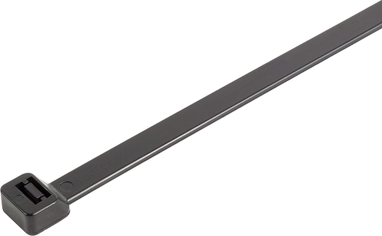 "Self-Locking 8 Inch Tie Wraps 18lb Strength 100 Pack GTSE 8/"" Black Zip Ties UV Resistant Strong Nylon Cable Ties"