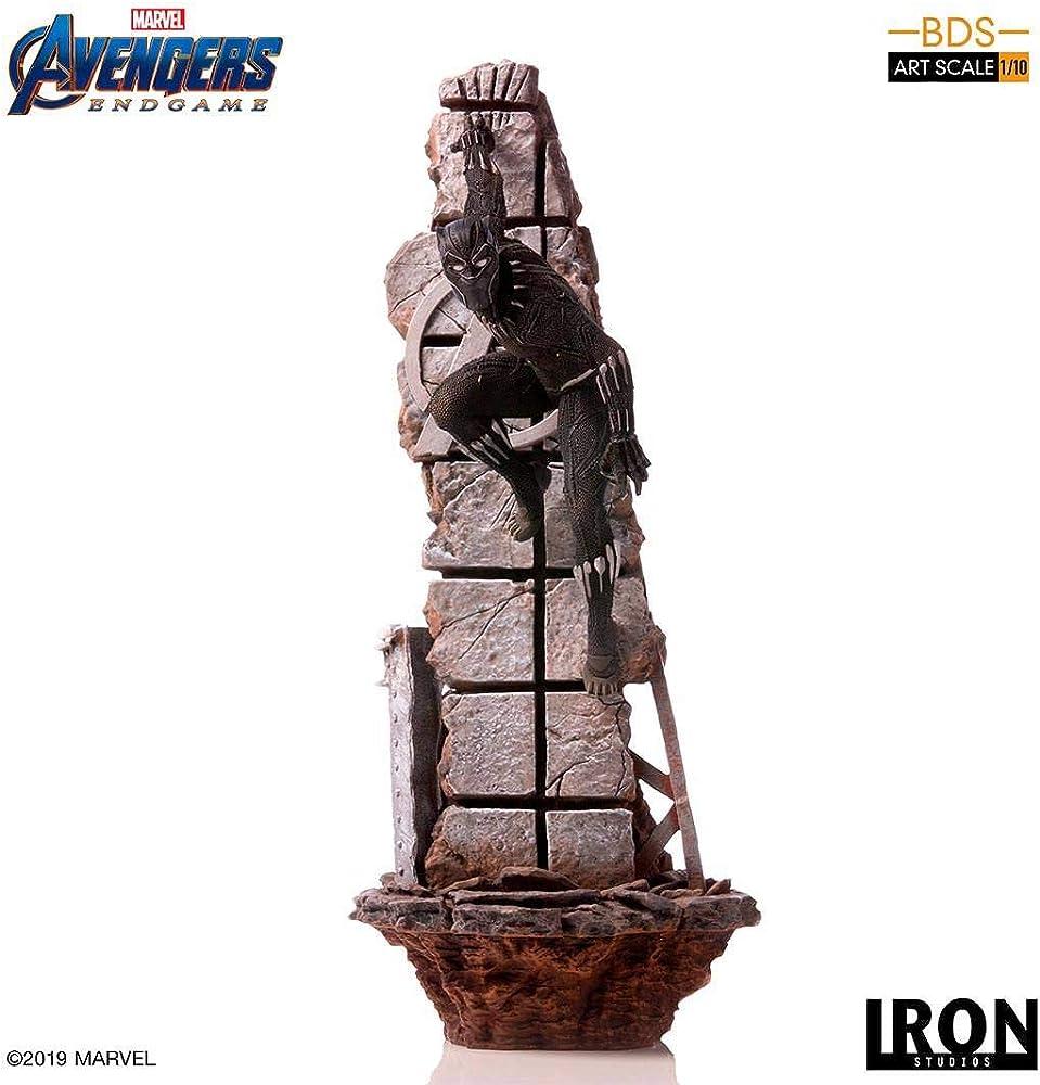 Marvel avengers endgame, black panther statuetta 18119-10