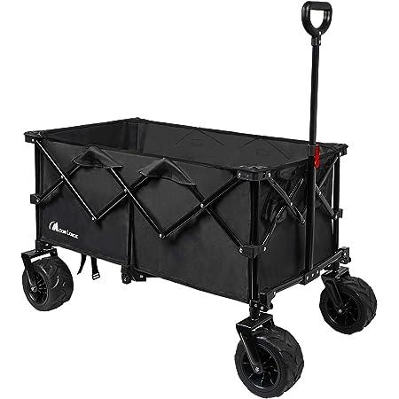 Moon Lence キャリーワゴン 折りたたみキャリーカート 大容量156L 幅広大型タイヤ アウトドア キャンプ レジャー BBQ 運動会 耐荷重100kg