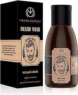 THE MAN COMPANY Beard Wash, Beard Shampoo (100ml) – Beard Cleanser for men with Argan Oil and Geranium - Beard Care for Me...