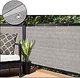 LQ La cubierta de la pantalla de privacidad Valla extensible de Privacidad - Super durable grueso Permeable Rectángulo - for la cubierta del patio trasero al aire libre Pergola - Parasol de Vela Telas
