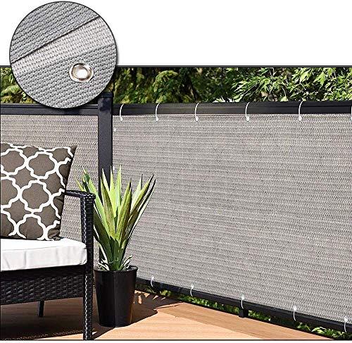 LLM Toldo La cubierta de la pantalla de privacidad Valla extensible de Privacidad - Super durable grueso Permeable Rectángulo - for la cubierta del patio trasero al aire libre Pergola - Parasol de Vel