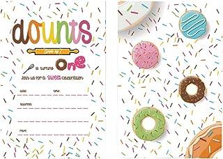 35 Donut Kids Birthday Party Invitations, First Baby Shower Invites, Boy or Girl 1st Birthday or Gender Reveal Theme, 35 Donut Kids Birthday Party Invitations, First Baby Shower Invites, Boy or Girl 1st Birthday