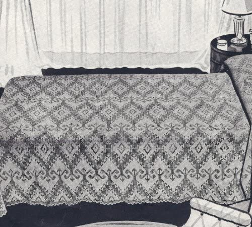 Vintage Crochet Pattern to Max 90% A surprise price is realized OFF make Bedspread Motif Heirloom - Filet
