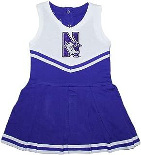 Northwestern University Wildcats Baby and Toddler Cheerleader Bodysuit Dress