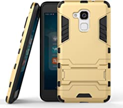 Case for Huawei Honor 5C / Honor 7 Lite (5.2 inch) 2 in 1 Shockproof with Kickstand Feature Hybrid Dual Layer Armor Defender Protective Cover (Gold)