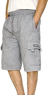 DREAM USA Men's Heavyweight Fleece Cargo Shorts
