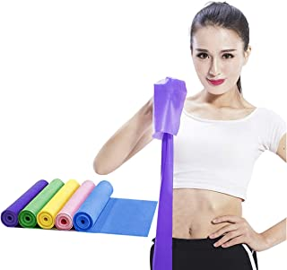 PURFUN 5 Pcs High Elastic Latex Yoga Strap Workout Fitness Resistance Band Home Gym Slimming Body Shaping Tool Stretch Exe...