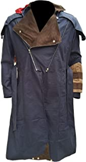 Men's Cosplay Costume Denim Cloak Assassin Creed Arno Dorian Dan Jeannotte Coat with Detachable Hood
