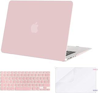 MOSISO Funda Dura Compatible con MacBook Air 13 (A1369/A1466, Versión 2010-2017), Rígida Carcasa Protector & Piel de Tecla...