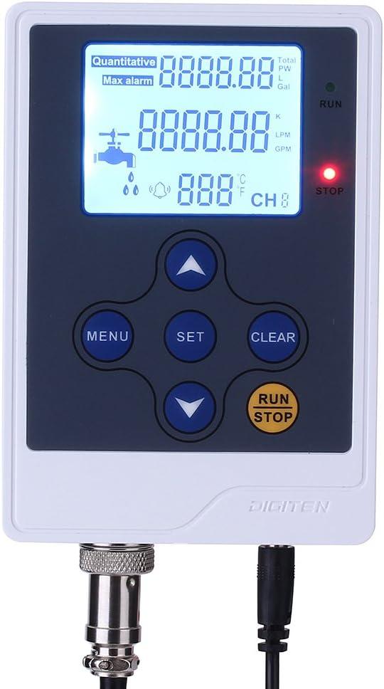 DIGITEN Water Liquid Flow Max 75% OFF Rate SALENEW very popular Volume Display Digital Flowmeter