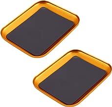 Bandeja de tornillo magn/ética de aleaci/ón de aluminio con cierre magn/ético para reparaci/ón de tel/éfono de modelo RC de GEZICHTA de 4,17 x 3,39 pulgadas para accesorios de coche como tornillos azul