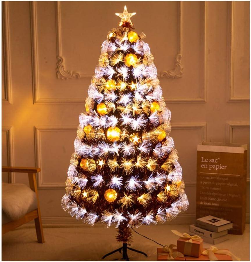 ASKLKD Fiber Optic Christmas unisex Tree Optical LED Fib Golden Glowing New arrival