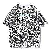 Der Neue Trend Wird durch bedruckte Sommer-T-Shirts mit losen, großen Hemden und halben Ärmeln abgedeckt