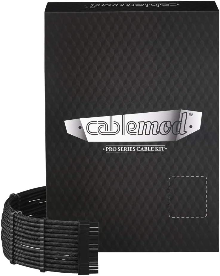 CableMod C-Series Pro ModFlex Sleeved Cable Kit for Corsair RM Black Label/RMi/RMX (Black)