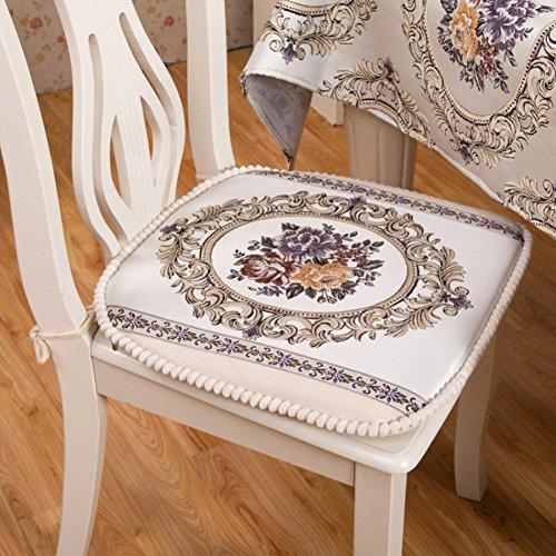 xinping Chair Pads Chaise Pad Chaise de Salle à Manger Pad Tapis de Coussin Amovible Tabouret, b, 48x48cm(19x19inch)