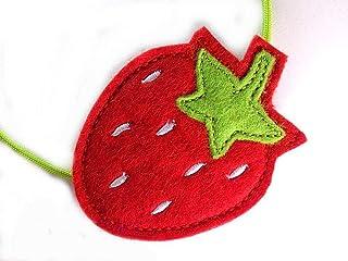 Diadema pelos para niña Fresa Frutilla Frutas decoración aro para pelo pinzas prendedor regalo moda infantil para Niñas