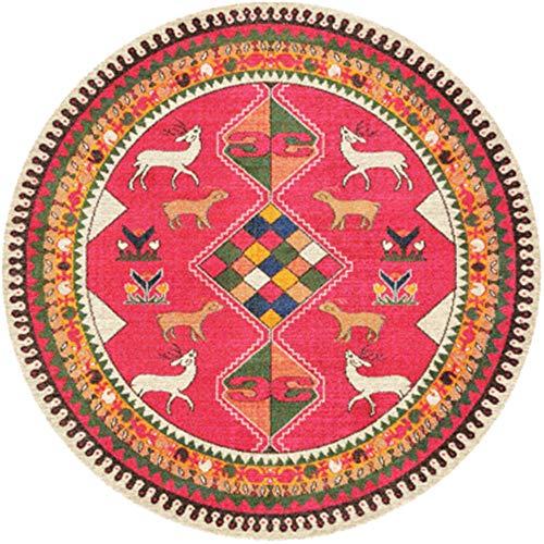 Lzcaure-HO Alfombra nórdica étnica colorida alfombra súper suave antideslizante absorbe felpudo lavable alfombra de entrada, zapatos de salón étnico vintage (color: 19, tamaño: 100 cm)