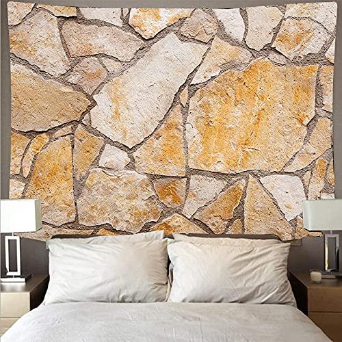 Marmor Backstein Wand Stil Wandverkleidung Wandteppich Retro Kunst Wandteppich Hippie Wandbehang Decke Hängetuch A4 100x150cm