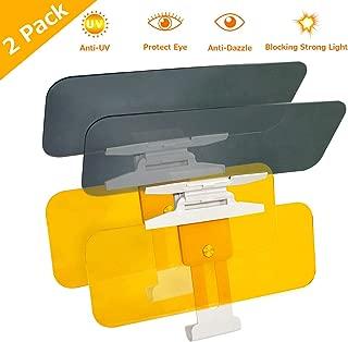 CigaMaTe Car Visor Extender Sun Blocker (2 Pack), Car Sun Visor Extender Night Vision Driving Goggles, 2 in 1 Day and Night Anti-Glare Visor for Car Windshield