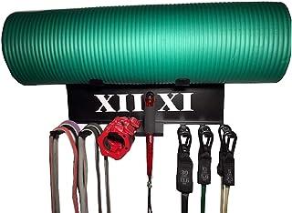 Gym Storage Accessory Rack. Exercise Band Hanger and Jump Rope Rack, Yoga Mat Shelf, Foam Roller Storage, Lifting Belt Sto...