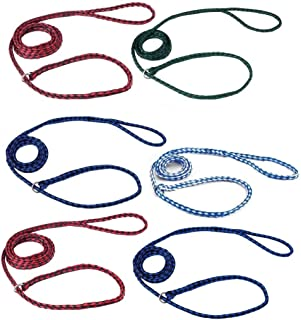 MPP Braided Poly Dog Control Slip Leads Assorted Color Vet Rescue Kennel Bulk Packs