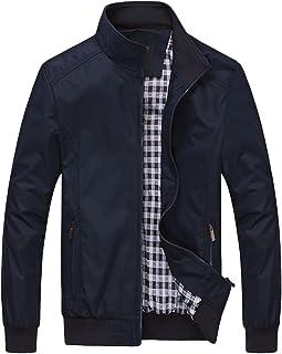 FTCayanz Bomberjack voor heren, overgangsjas met opstaande kraag, korte jas voor business en vrije tijd