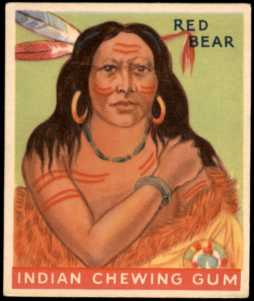 1933 Goudey Indian Gum # Max 63% OFF Bear Card 67% OFF of fixed price 100 VG Red