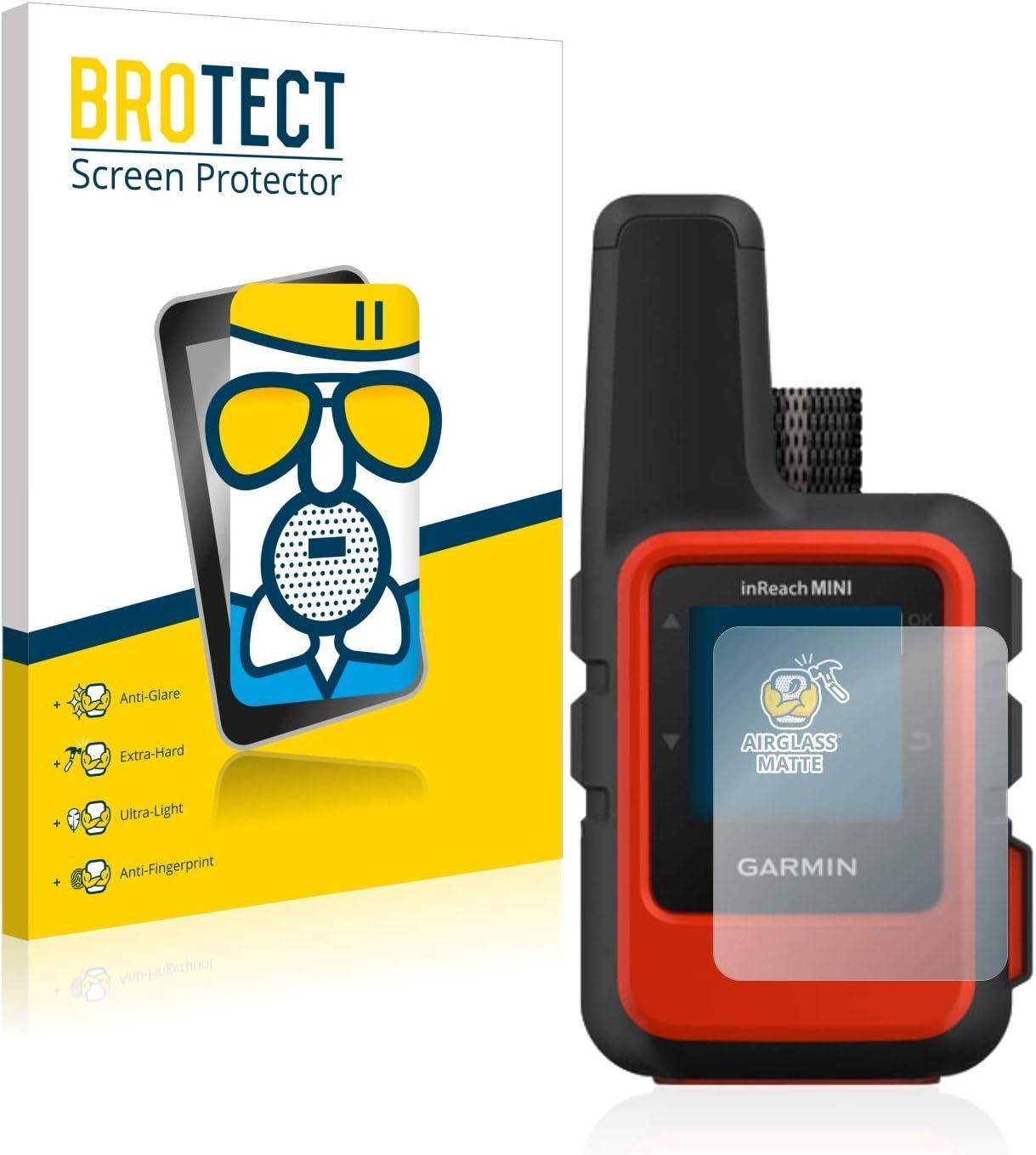 BROTECT Protector Pantalla Cristal Mate Compatible con Garmin inReach Mini Protector Pantalla Anti-Reflejos Vidrio, AirGlass
