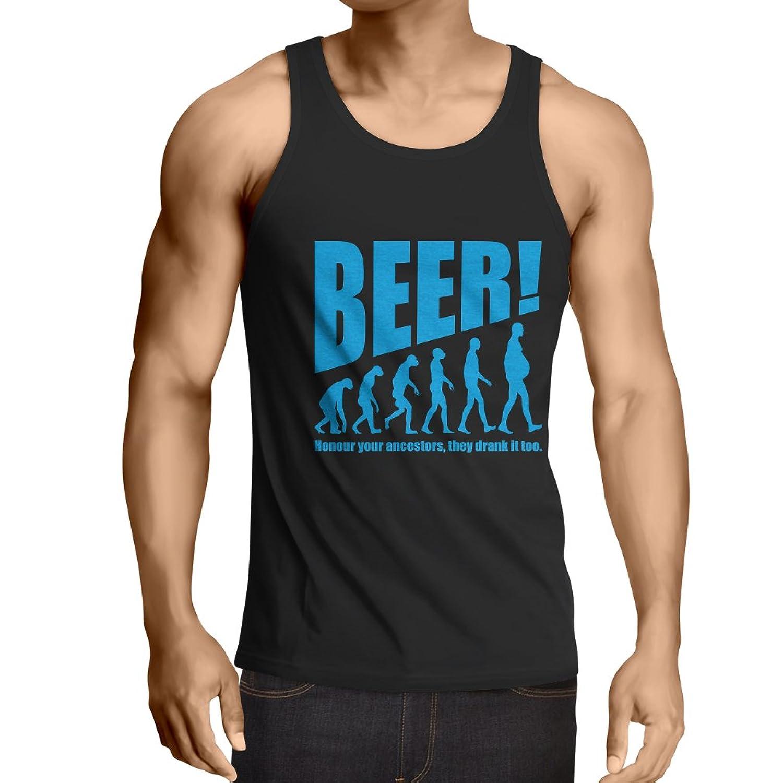 男性用ベスト Beervolution - ビール愛好家のためのユニークで面白い皮肉な贈り物のアイデア、飲酒進化