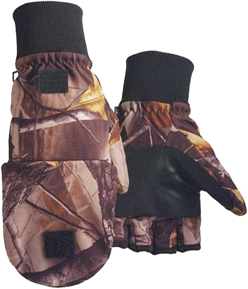 Northstar Unisex Waterproof Thinsulate Camo Flip Top Convertible Gloves. 500CA
