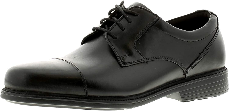 Rockport Charlesroad Captoe Mens Other Leather Material Formal shoes Black