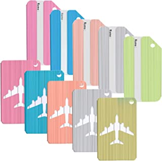 Axe Sickle Aluminum Luggage Tags Holders Mixed Colors Travel Bag ID Tags Airline Baggage Labels for Travel Luggage Baggage Identifier, Set of 10.