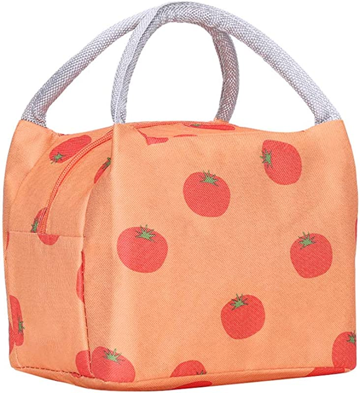 Lunch Bag Insulated Lunch Box Reusable Lunch Tote Cooler Organizer Bag Lunch Bags For Women Ladies Adults Orange