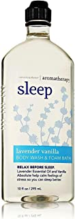 Bath & Body Works Aromatherapy Sleep - Lavender + Vanilla Body Wash & Foam Bath, 10 Fl Oz