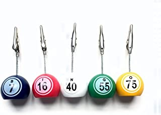 United Novelty Bingo Admission Ticket/Photo Holder- Bingo Balls B-I-N-G-O- Set of 5