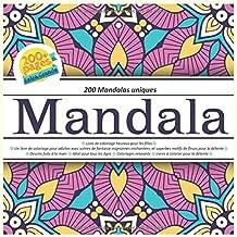 200 Mandalas únicos - Mandala Libro de colorear