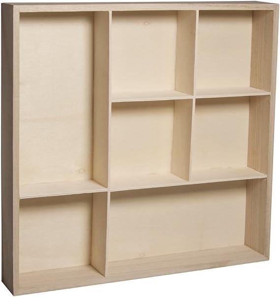 L/ámpara de l/áminas madera, 20 x 20 x 35 cm, 22 piezas, en caja Rayher 62901505 Helsinki FSCMixCred