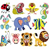 Hergon Forst Animal Parches para niños, pegatinas de bricolaje, parche para planchar, para bolsas, sombreros, vaqueros, 84#