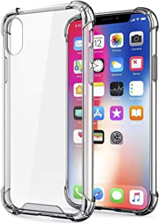 Transparent Clear Protective Case Reinforced Edges TPU Bumper Anti-Scratch Shock Proof Protector Cover (6.10-inch - Iphone...