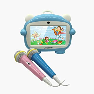 Jettom Tablets with Two Microphone and SIM Card 7-inch 8GB ROM 512MB RAM 2G IPS LCD Dual Camera Kids Tablet J2