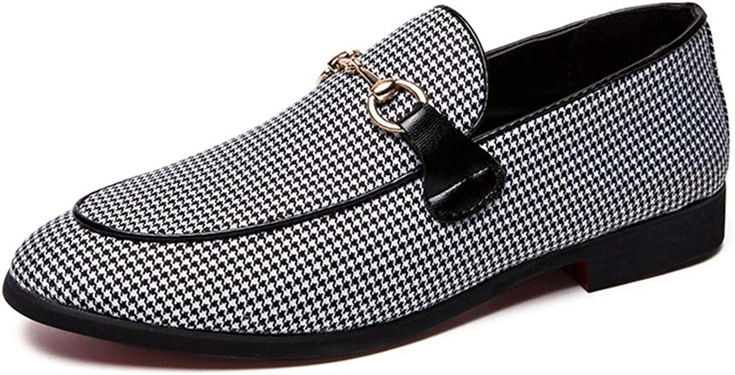CHENXD shoes, Men's Driving Loafer Soles Buckle Decoration Casual and Soft Boat Moccasins
